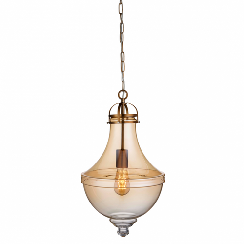 Clara Amber Traditional Pendant Light