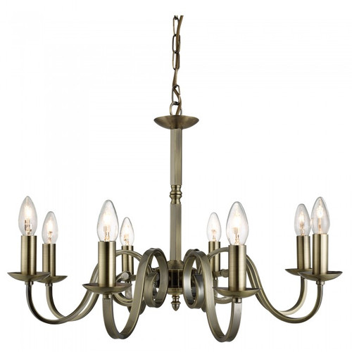 Emerson 8 Light Antique Brass Chandelier