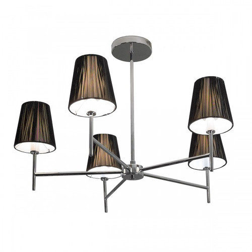 String 5 Light Black Chandelier