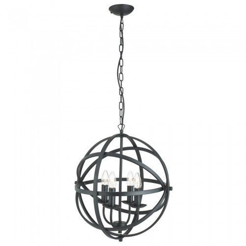 Amor 4 Light Black Pendant Light