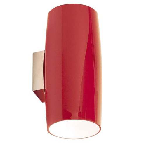 Grand Red Minimalist Wall Light - Large