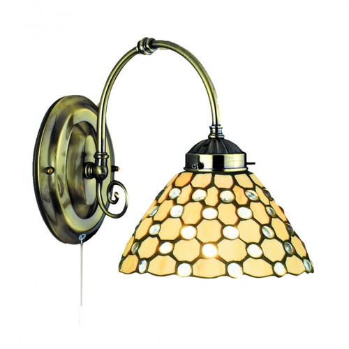 Tiffany Droplet Brass Glass Wall Light