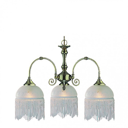 Victoriana 3 Light Stain Glass Pendant Light