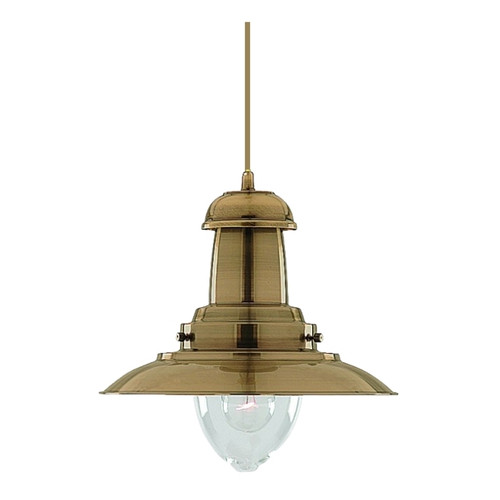 Fisherman Antique Brass  Pendant Light