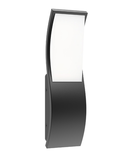 Ordu Dark Grey Curve Exterior LED Wall Light