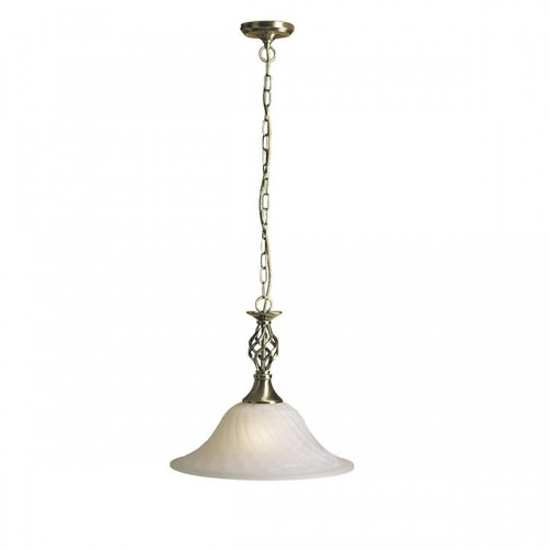 Devon Opal White Traditional Pendant Light