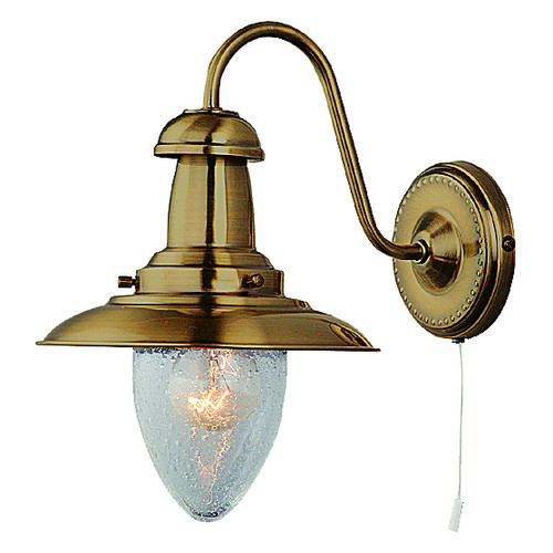 Fisherman Antique Brass Wall Light