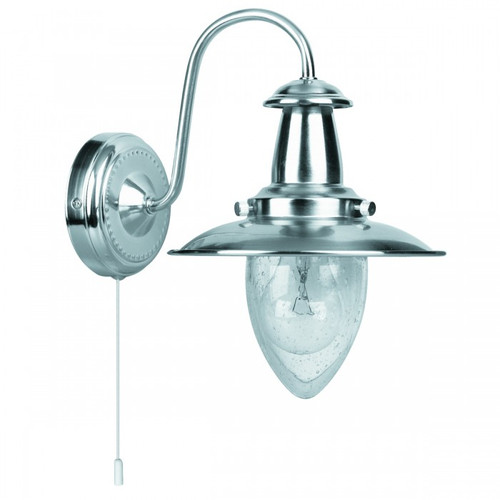 Fisherman Satin Chrome Wall Light
