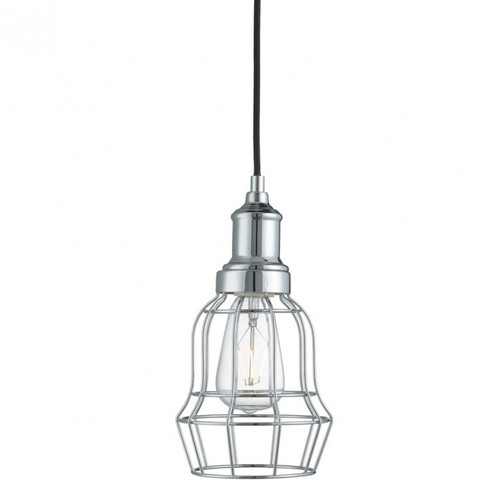Guard Caged Chrome Industrial Pendant Light