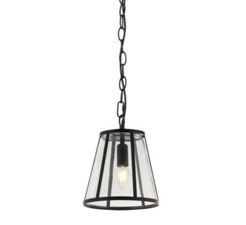 Ernest Black Clear Glass Pendant Light