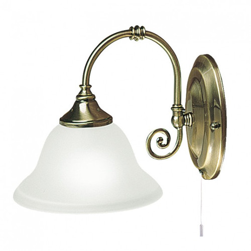Heritage 1 Light Antique Brass Classic Wall Light