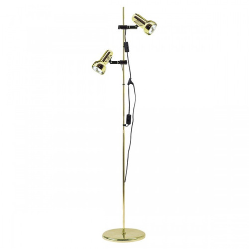 Adjustable Double Spot Heads Brass Floor Lamp