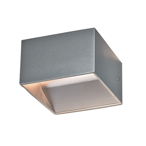 Cube Contemporary LED Silver Wall Light