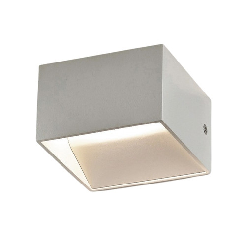 Cube Contemporary LED White Wall Light
