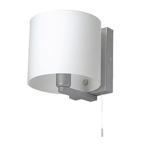 Pull Cord Switch Silver Grey Wall Light
