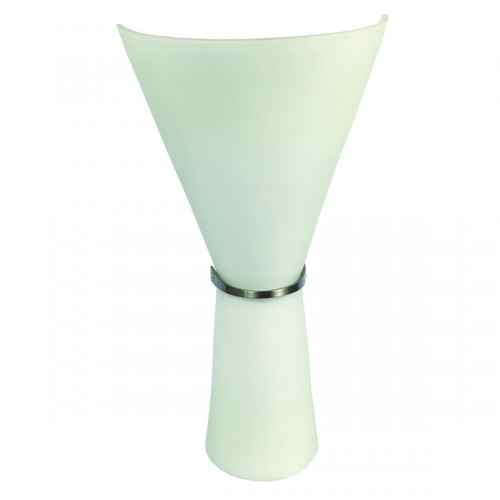 Cone Up And Down Glass Siloet Fluro Wall Light