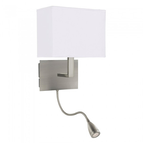 Maddox Satin Chrome LED with Flexi Spotlight Wall Light