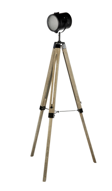 Caseros Studio Tripod Black Floor Lamp