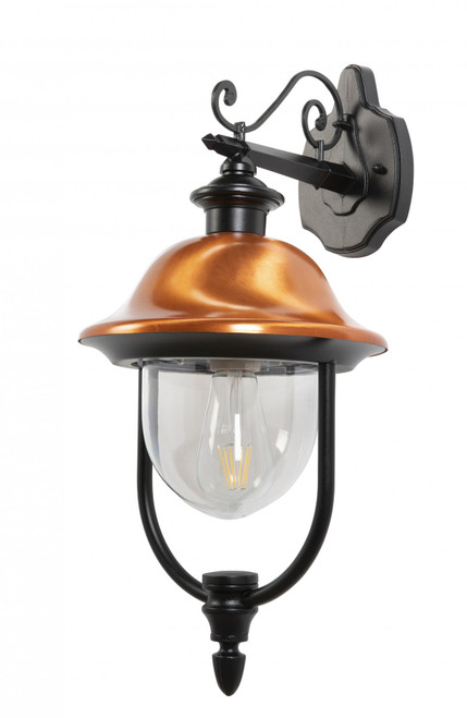 Black and Copper Industrial Wall Light
