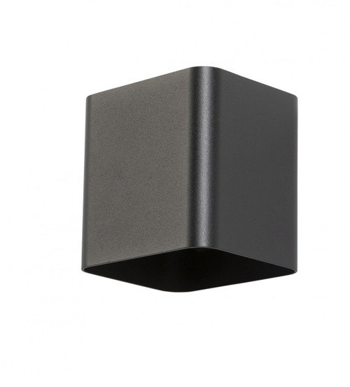 Karter Square Up and Down Black Outdoor Wall Light