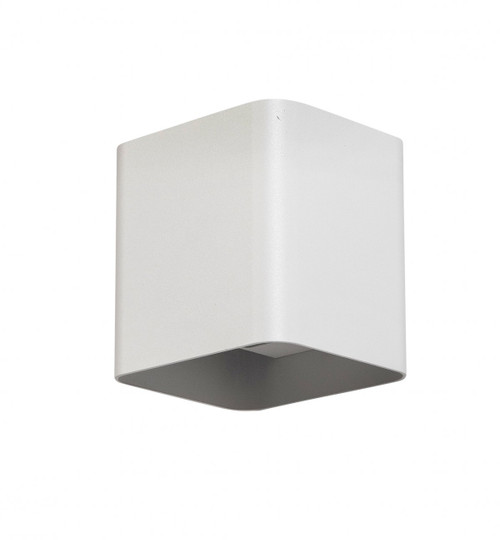 Karter Square Up and Down White Outdoor Wall Light