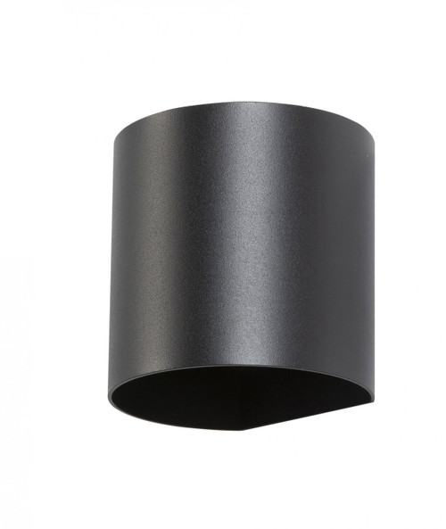 Kaden Round Up and Down Black Outdoor Wall Light