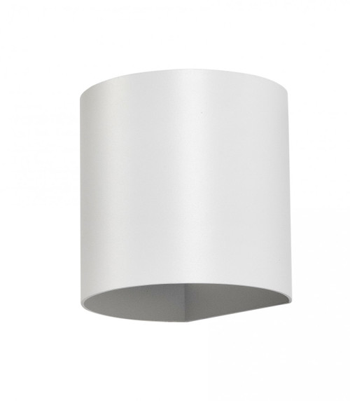Kaden Round Up and Down White Outdoor Wall Light