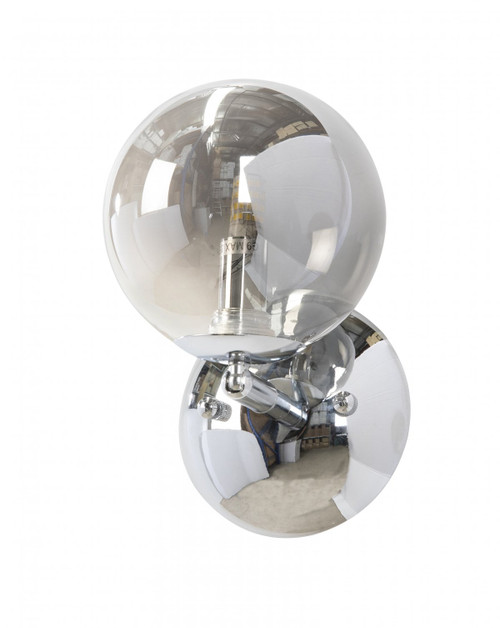 Modern 1 Light Chrome Globe Wall Light