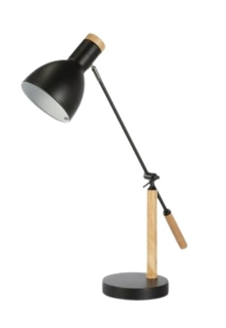 Maisie Black Wood Nordic Table Lamp