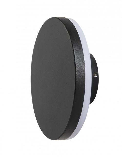 Karson Round Black LED Wall Light