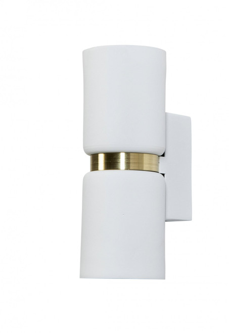 Toni 2 Light White Chrome Modern Wall Light