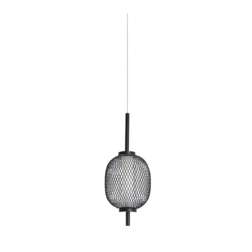 Balvan Small Oval Black Industrial Pendant Light