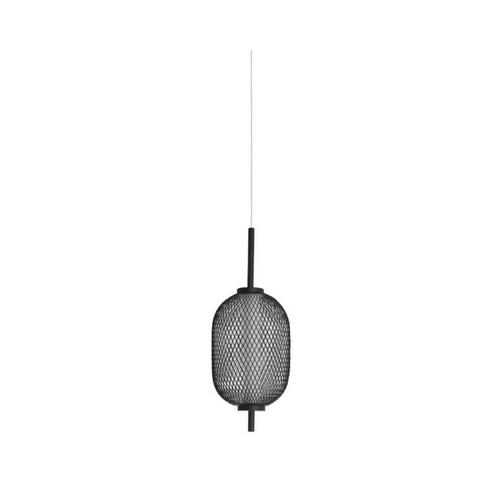Balvir Black Long Oval Industrial Pendant Light