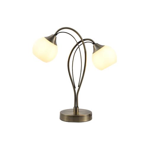 Malini 2 Light Antique Brass Table Lamp
