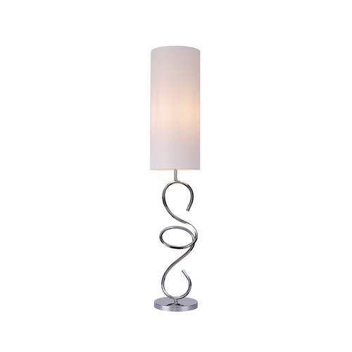 Zola Twist Chrome Floor Lamp