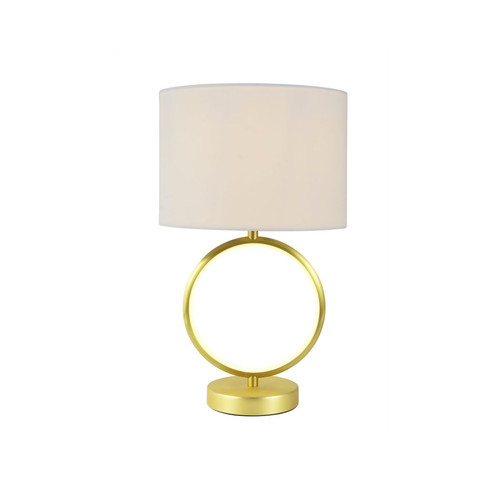 Marie Ring Brass White Table Lamp