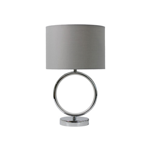 Marie Ring Chrome Grey Table Lamp