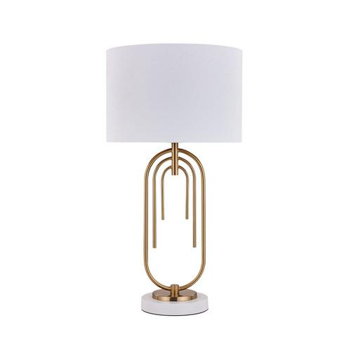 Fleur White Gold Modern Table Lamp