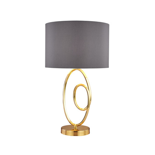 Lucie Brass Grey Modern Table Lamp