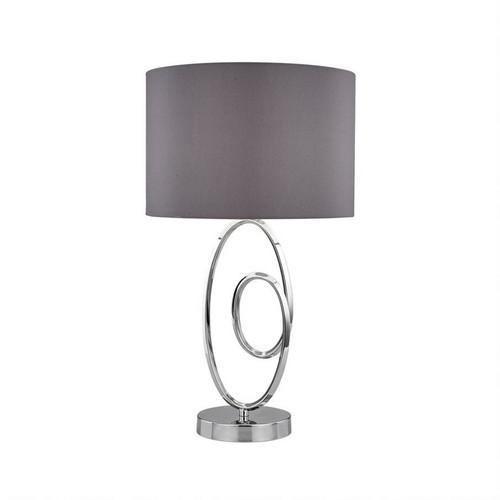 Lucie Chrome Grey Modern Table Lamp