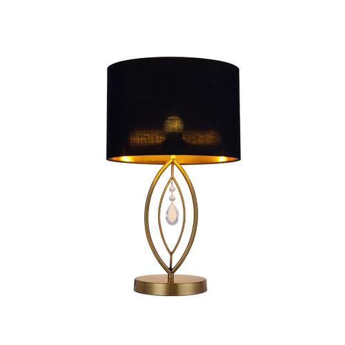 Greta Brass Black Table Lamp