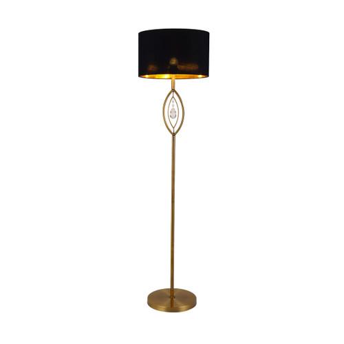 Greta Brass Black Floor Lamp