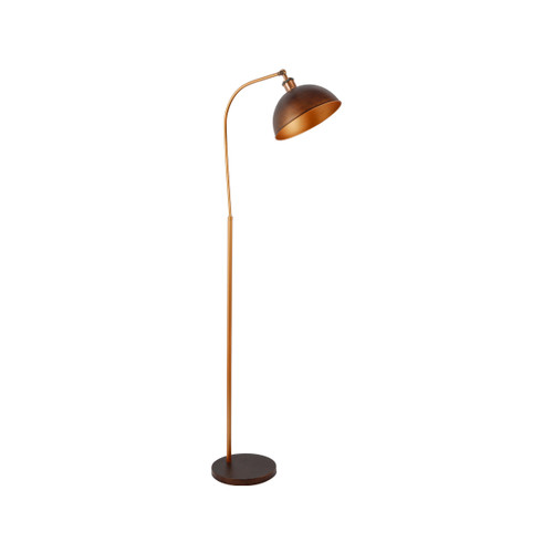 Lenna Dome Head Antique Pewter Floor Lamp