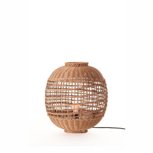 Galena Mud Wash Rattan Table Lamp