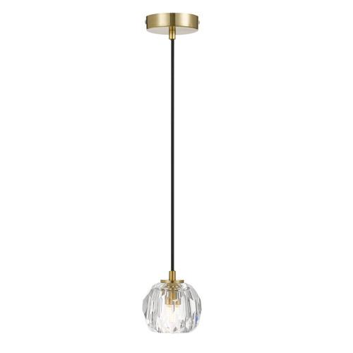 Zara Prism Sphere Crystal Antique Gold Pendant Light