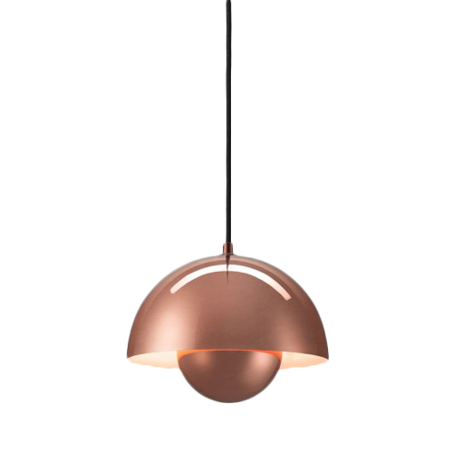 Replica Verner Panton Copper Flowerpot Pendant Light