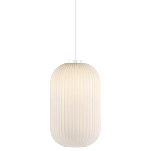 Milford 20 Oval Opal White Glass Pendant Light