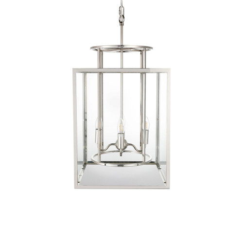 Clement Large Nickel Glass Hampton Pendant Light