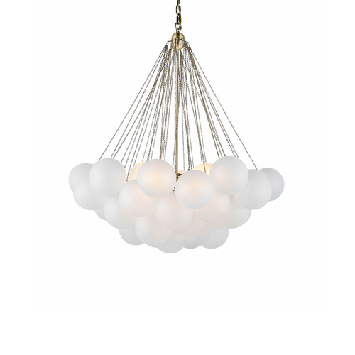 Collins Frosted Glass Balls Cluster Pendant Chandelier - Large