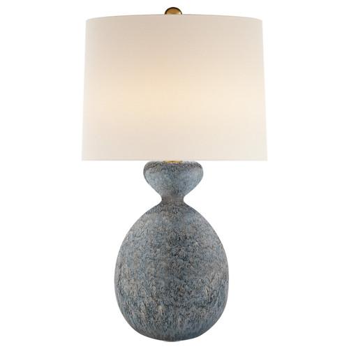 Gannet Blue Lagoon Linen Shade Table Lamp
